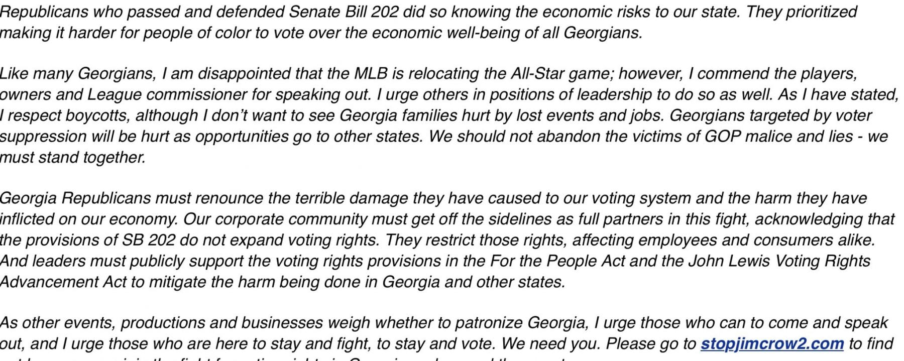 Abrams statement